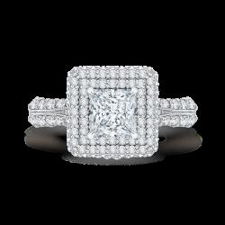 18K White Gold Princess Cut Diamond D...