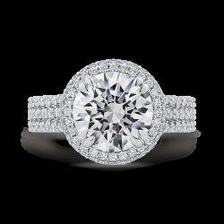 18K White Gold 1 1/5 Ct Diamond Cariz...